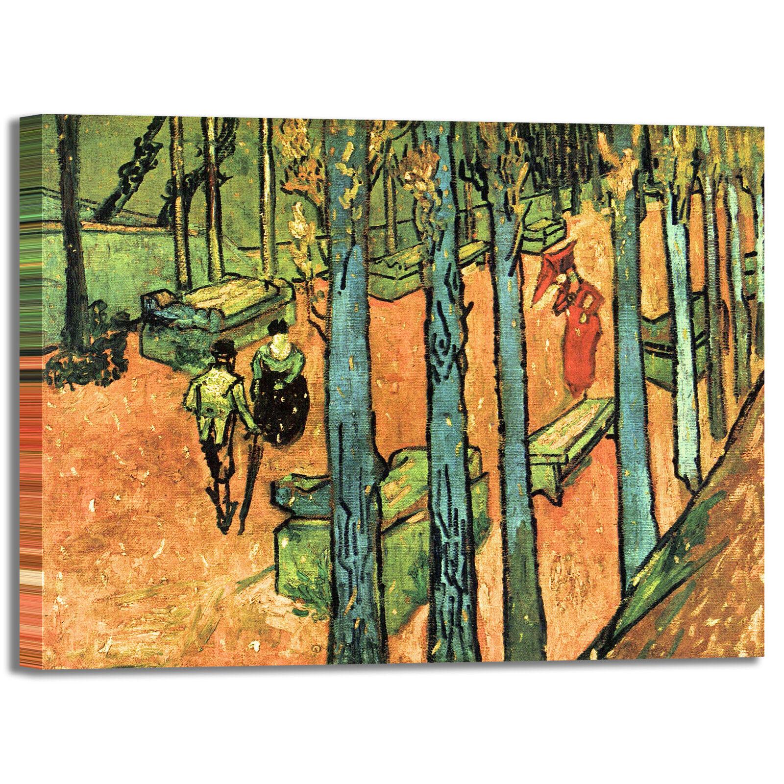 Van Gogh les alyscamps design quadro stampa tela dipinto telaio arroto casa