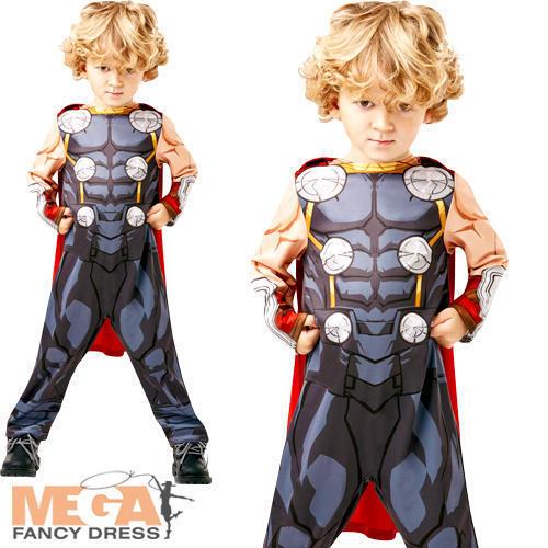 Thor Age 2-3 Infinity War Toddler Fancy Dress Superhero Kids Childs Boys Costume