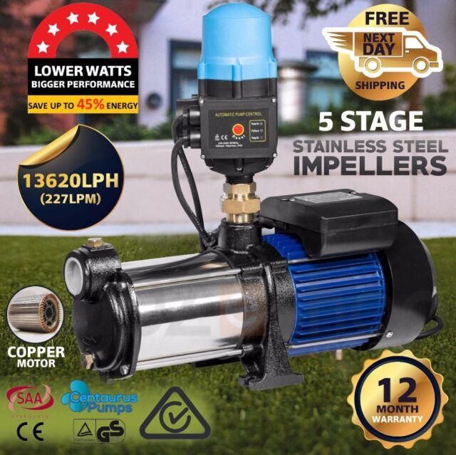 CENTAURUS 1800W Multi Stage Water Pump High Pressure Auto Garden Tank Irrigation