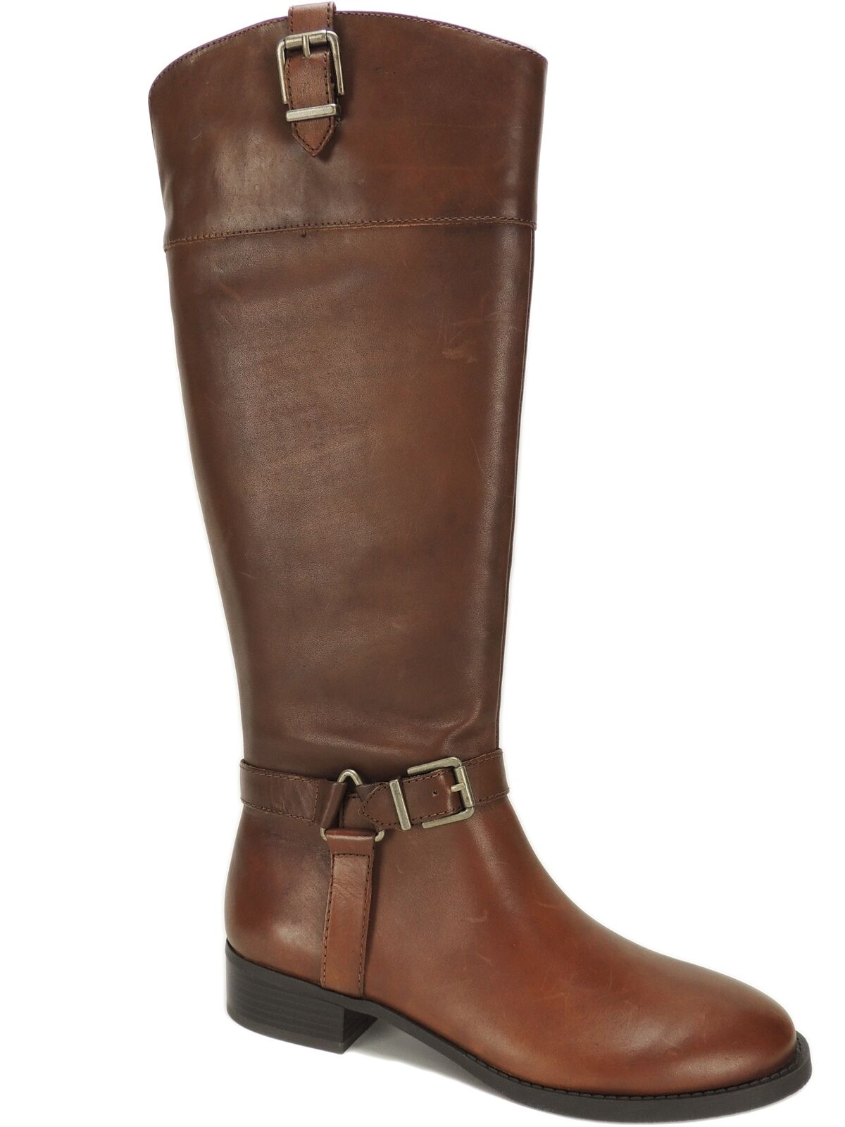 INC International Concepts Women's Fedee Tall Boots Cognac Leather Size 10.5 M