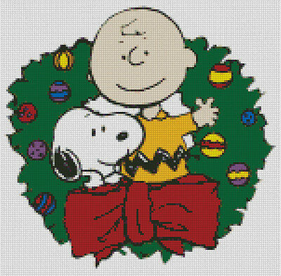 Peanuts Charlie Brown Christmas DIGITAL Counted Cross-Stitch Pattern Needlepoint