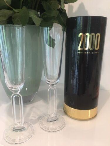 Auflage Jahrtausendglas Bleikristall Neu 2 Riedel Jahresgläser 2000 lim