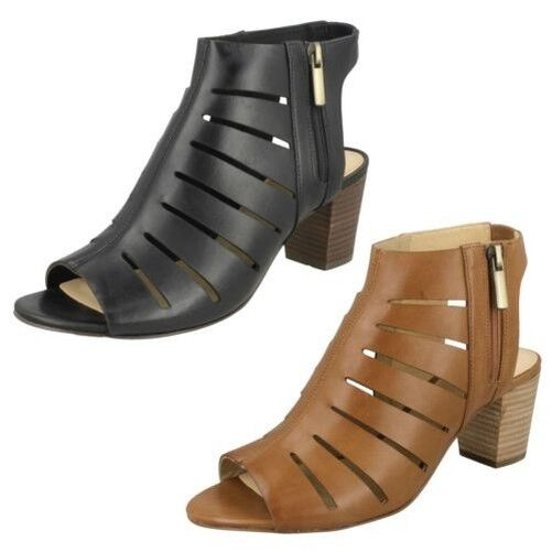 Womens clarks open back cage sandals 'Ivy' Deloria