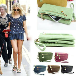 new-cool-fashion-lady-women-purse-long-zip-wallet-mobile-phone-bags-PU-handbag