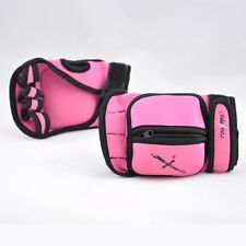 MaxxMMA Adjustable Weighted Gloves (Pink) - Removable Weight 1 lb. x 2