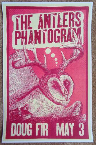 THE ANTLERS 2010 Hospice Gig POSTER Portland Oregon Concert