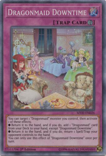 Super Rare M//NM 1st Edition Yu-Gi-Oh MYFI-EN026 x3 Dragonmaid Downtime