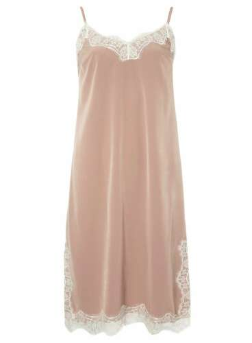 Dorothy perkins taupe slip robe taille 12-neuf