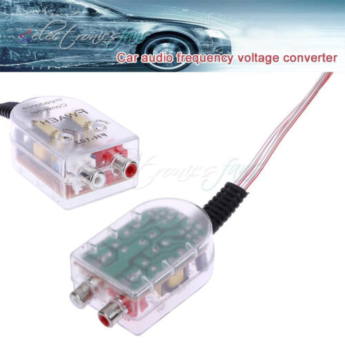 Level Car Speaker High to Low Impedance Converter 2 Channel RCA Line Out