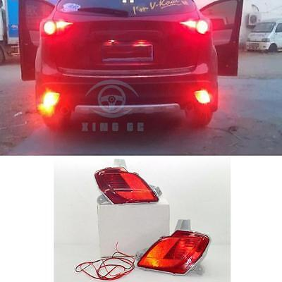 1 Pair Rear Tail bumper Fog Lights Lamp Kit for Mazda CX-5 with Wire harnes
