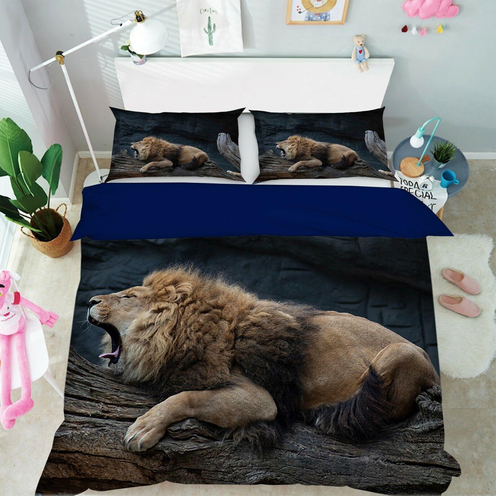 3d Lion h67 animal lit housses de coussin couverture couverture couverture Set Angelia