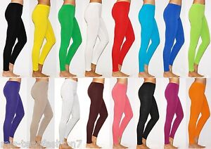 Womens-Leggings-Plus-Size-Cotton-Full-Length-Thick-Soft-Touch-UK-8-28