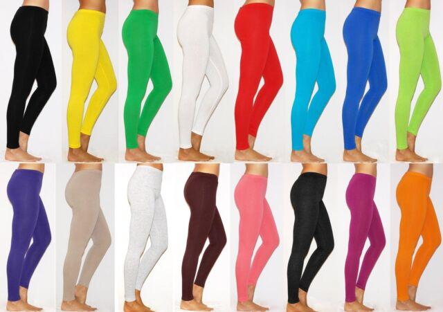 Womens Plus Size Full Length Thick Cotton Leggings