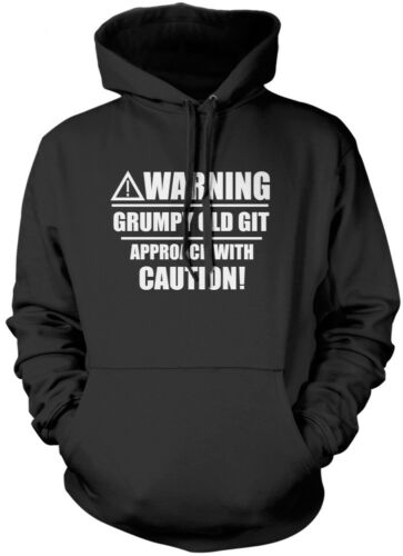 Warning Grumpy Old Git Funny Old Man Unisex Hoodie