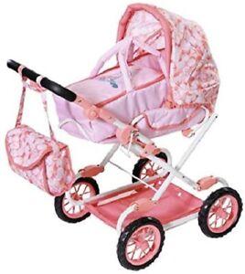 Baby-Annabell-DELUXE-Cochecito-Cochecito-Buggy-amp-cambiando-Bolsa-Juguete-Juegp-Zapf