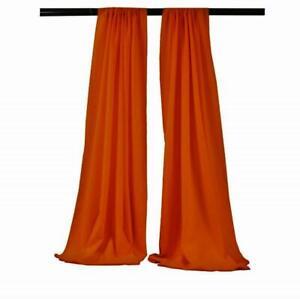 10 x 5 Ft Royal Blue Curtain Polyester Poplin Backdrop Drapes Panels 1 Pair