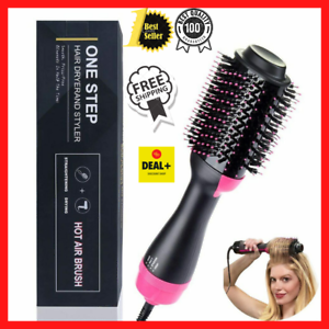 One-Step Hair Blow Tangle Comb Volumizer Electric Hot Air Curling Iron Comb Blow