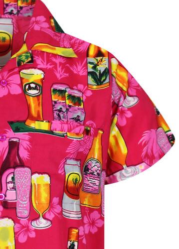 Funky Hawaiian Beer Bottle Different Colors Short Sleeve