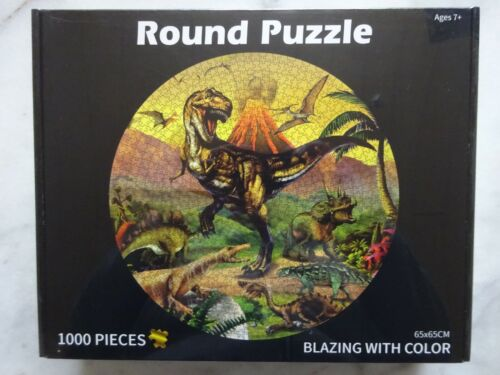 Round Puzzle Dino NEU XXXX Puzzle 1000 Teile rund