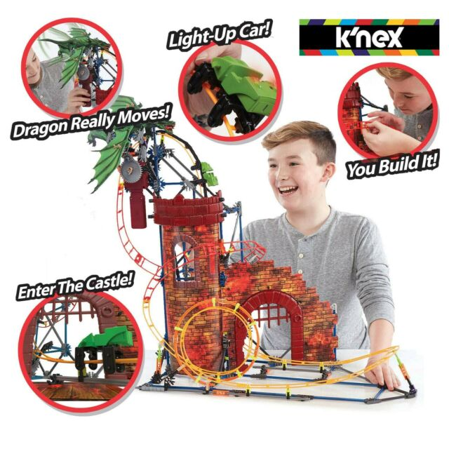 K'NEX Kids Indoor Table Top Thrills Dragon's Revenge Rail Road Roller Coaster