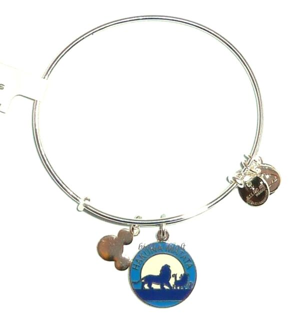 New Disney Parks Alex And Ani Lion King Hakuna Matata Simba Silver Bracelet