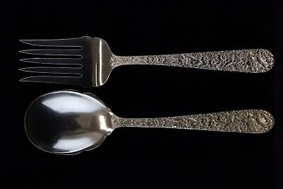 S Kirk /& Sons Inc Repousse Sterling Silver 4 Piece Place Setting No Monograms