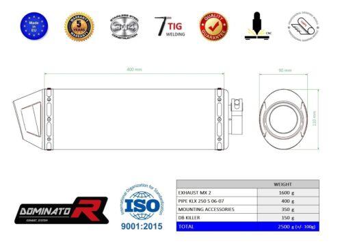DB KILLER Details about  /Exhaust silencer muffler DOMINATOR MX KAWASAKI KLX 250 S 06-07