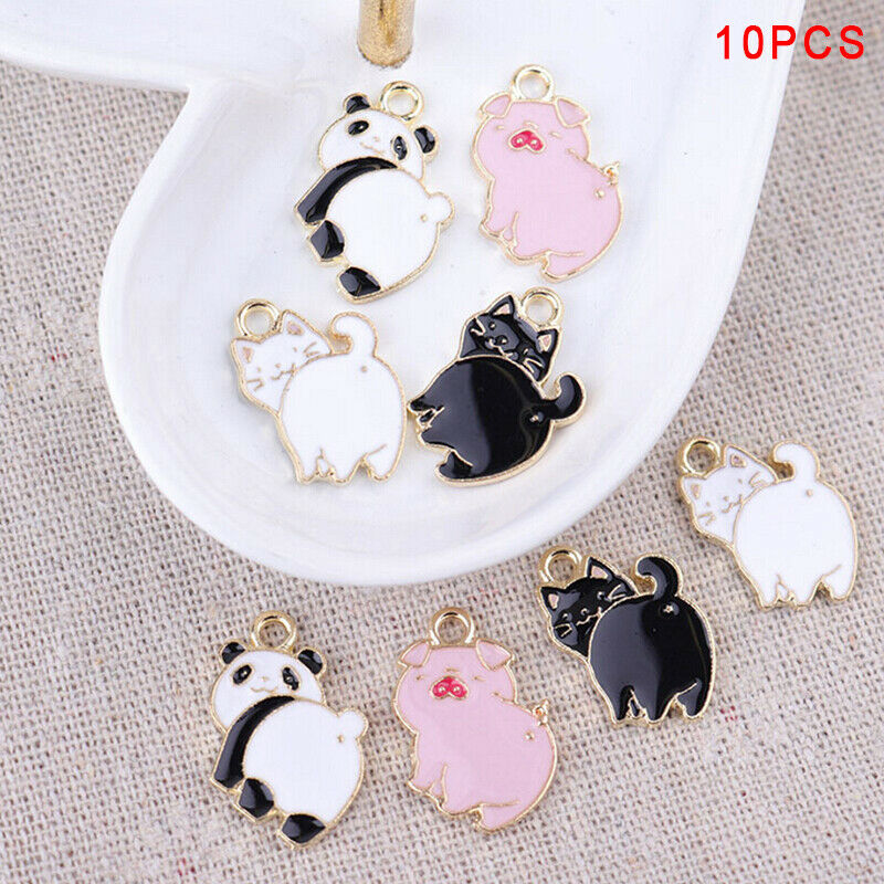 Love Mickey Panda Enamel Alloy charm pendant accessory phone decoration