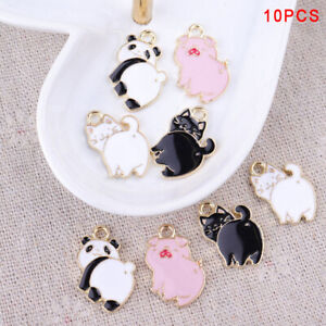 10Pcs-Lot-Enamel-Alloy-Pig-Cat-Panda-Charms-Pendants-DIY-Jewelry-Findings-CrafYT