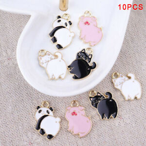 10Pcs-Lot-Enamel-Alloy-Pig-Cat-Panda-Charms-Pendants-DIY-Jewelry-Findings-Crafts