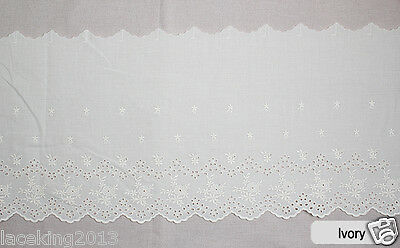 "1yard Broderie Anglaise cotton eyelet lace trim 11.4"" YH1428 laceking2013"