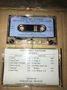 Stevie Ray Vaughan PROMO Cassette Tape The Best Of SRV & Double Trouble 1995