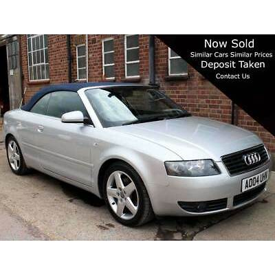 2004 Audi A4 Convertible B6 1.8 T Sport Cabriolet 2dr Leather 72,000 miles FSH