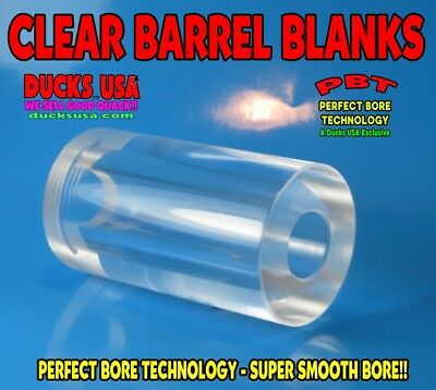 """Duck Call Acrylic AMBER Barrel Blank with Perfect Bore Technology 2.7/"""" x 1.5/"""" OD"""