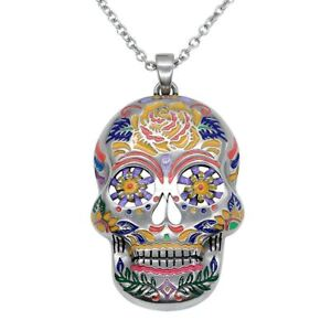 The-Floral-Sugar-Skull-Necklace-Day-of-the-Dead-Pendant-Jewelry-By-Controse