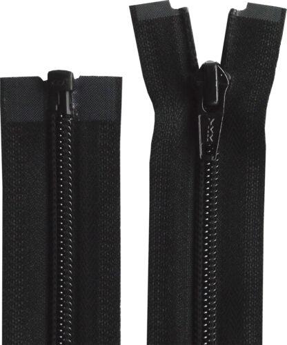 Negro YKK 10-76 pulgadas 25cm-193cm final Abierto zip nylon
