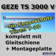 GEZE TS 3000 V Türschliesser Gleitschiene Montageplate silberfarbig
