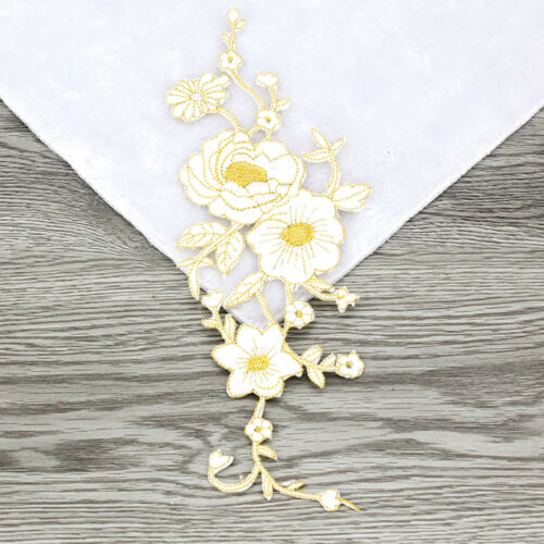 5pcs Embroidered Multicolor Rose Floral Patch Iron on Appliques Trim Decor FT30