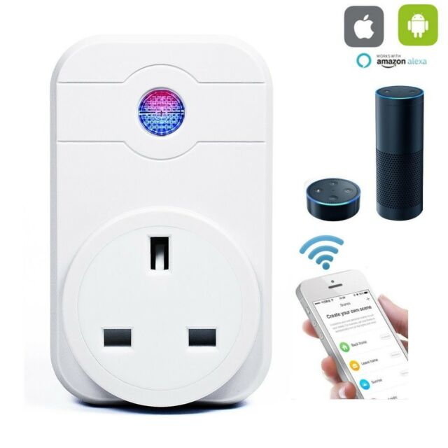 Wireless WiFi Smart Switch Socket Outlet Home Timer Control Power ON/OFF UK Plug