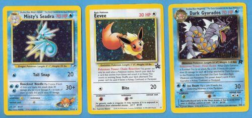 Pokemon Misty/'s Seadra /& Eevee Promo Foil Cards Dark Gyarados 3 Mint