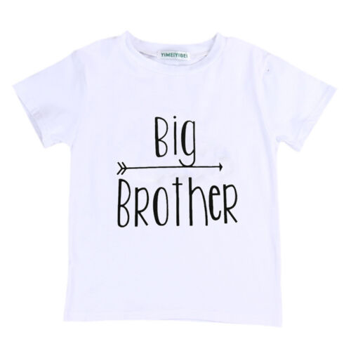 Little Brother Kid Baby Boy Romper Big Brother T-shirt Tops Outfits US Stock c