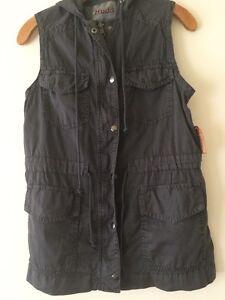 Mørkegrå Mudd Størrelse Hættetrøje Vest S Ny Kvinder Khaki mærker med xPHqwq4aI