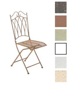 Détails sur Chaise de jardin LUNIS extérieur salon ronde romantique métal  vintage terrasse
