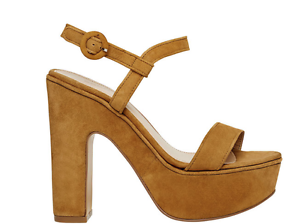 NEW SEED Heels HERITAGE Camel Leather Platform Heels SEED Shoes SIZE 39/AU8.5 142f6c