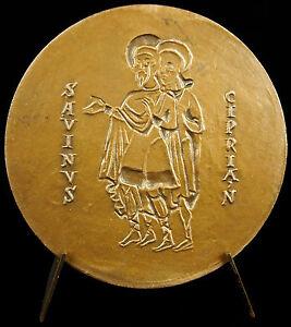 Medal-Saint-Savin-Vienne-Savinus-Cipria-039-N-L-039-Church-Abbatial-C-1960-Medal