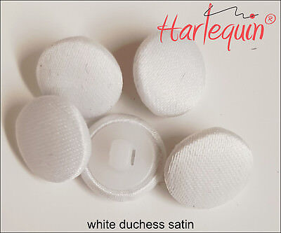 Bridal Buttons Fabric Covered Buttons Ivory Lightweight Satin made by Harlequin