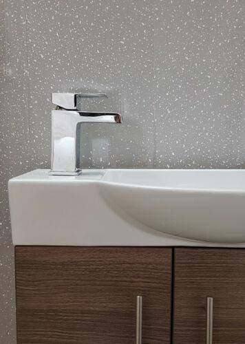 diy materials grey platinum sparkle wall panels bathroom