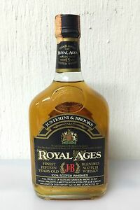 Royal-Ages-15-Years-Old-J-amp-B-Scotch-Whisky-75cl-43-Vintage