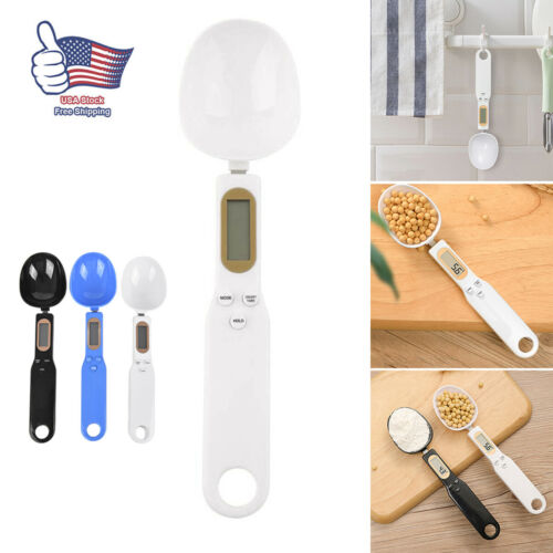 Portable Precise Digital Kitchen Measuring Electronic Spoon Weight LCD Display