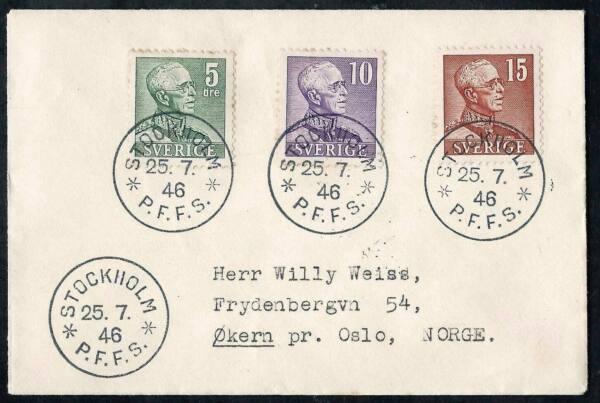 Enveloppe Timbree Suede 1946